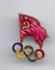 Pin badge NOC USSR Russia National team Olympic Games Committee
