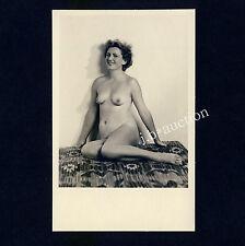 PRETTY NUDE WOMAN / NACKTE FRAU AUF KELIM * Vintage 60s Amateur Photo
