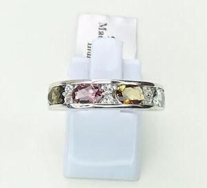 Multi Colour Tourmaline Gemstone Ring, Size P, Gems Tv/ Gemporia