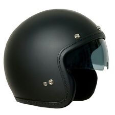 CASCO ONE OLD NERO OPACO CAFE RACER CUSTOM JET VISIERA A SCOMPARSA TG M