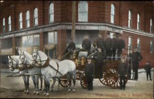 Bristol TN Hose Co #2 Fire Dept Horse Drawn Engine c1910 Postcard