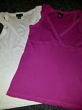 lot of 2 womens Large Apostrophe dressy tank tops ribbed