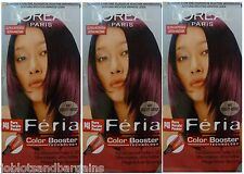 3 x LOreal Paris Feria Color Booster P48 Pure Purple Power - Hair Colourant Dye
