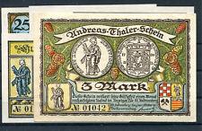 St. Andreasburg 5 Scheine Notgeld mit KN ohne Drfa ........................z1198