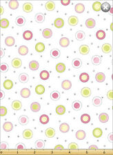 Susybee's Lewe Pink Circle dots 100% cotton fabric by the yard
