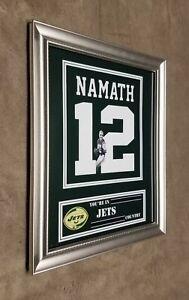 New York Jets Joe Namath Framed 8x10 jersey Photo