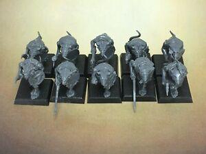 Warhammer SKAVEN CLANRATS x10 Lot #1 GW Kings of War D&D Mordheim ratmen