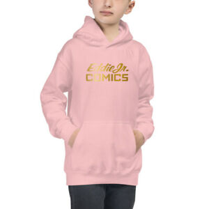 EddieJrComics Kids Hoodie Gold Print Logo