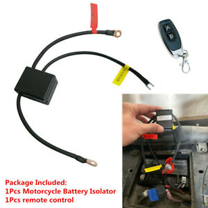 12V Motorcycle Battery Disconnect Cut Off Isolator Master Switch Wireless Remote