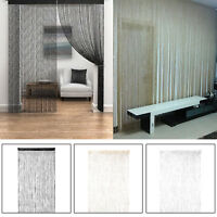 1/2 Pcs String Fringe Net Panel Divider Sparkle Window Door Curtain Fly Screen