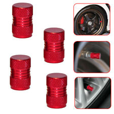 4x Universal Red Metal Car Wheel Tyre Valve Alloy Dust Caps Cover Accessories