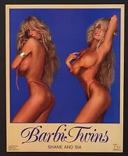 ~ 092 Barbi Twins (Shane and Sia) Sexy Bikini Vintage Poster / Print 16 x 20