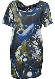 Puma tee dress by Hussein CHALAYAN Women's Burn Through TEE Dress UK10 BNWT