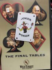 Joker Poker - The Final Tables region 4 DVD (Australian poker tv series) rare