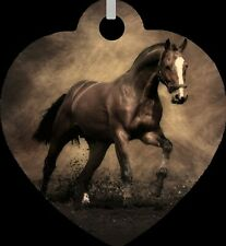 Horse Stallion Western Double Sided Metal Heart Necklace Fashion Jewelry NEW