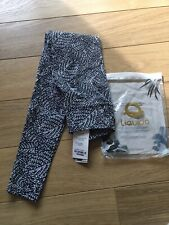 Liquido Yoga Leggings Extra Long Black And White Forest Athem Size Small - New
