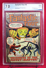 FANTASTIC FOUR #8 PGX 7.0 FN/VF first PUPPET MASTER, ALICIA MASTERS HTF +CGC!!!