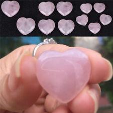 Natural Rose Quartz Crystal Carved Heart Shaped Love Palm Healing Gemstone Pink'