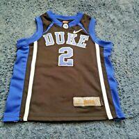 Duke Blue Devils Basketball Jersey Black #2 NIKE ELITE Boys Size 7