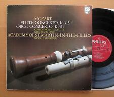 SAL 6500 379 Mozart Flute Oboe Concertos Monteux Black Marriner 1972 NM/VG