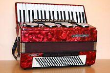Weltmeister Stella 120 Bass LMMH Accordion Akkordeon Fisarmonica Red