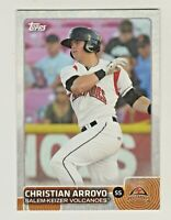 2015 Topps Pro Debut #26 CHRISTIAN ARROYO RC Rookie Boston Red Sox QTY AVAILABLE