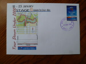 2000 TOURDOWN UNDER STAGE 6 CYCLING COVER  CITY WEST CAMPUS UNI POSTMARK