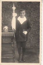 CH32.Vintage Postcard. Boy's first communion or confirmation photo?