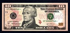 RARE 3-digit Low # 2004A $10 GF Star, Only 9,600 Printed GF00000746* GEM CU!!