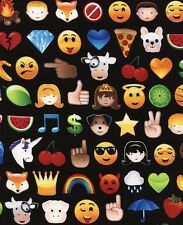 Timeless Treasures ~ Brite EMOJIS Emoticons ~ 100% Cotton Sew Quilt Fabric BTY