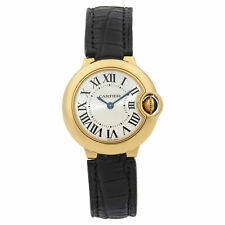 Cartier Ballon Bleu 18k Yellow Gold Silver Dial Quartz Ladies Watch W6900156