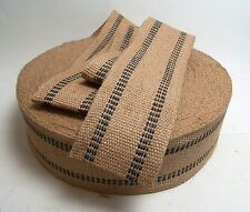 """Jute Webbing 3 1/2"""" Inch Width, 9 lb. Strength Sold By The Yard 36"""" Inches"""