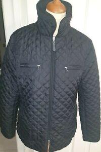 HOBBS Women's Fabulous Black Quilted Coat Jacket size 14