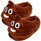 Unisex Poop Emoji Plush Stuffed Home Indoor Pair Slippers Super Soft Shoes