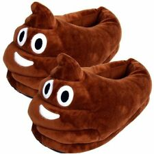 Unisex Poop Emoji Plush Stuffed Home Indoor Pair Slippers Super Soft Shoes