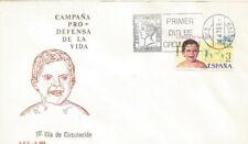 SPD FDC España Pro defensa de la Vida 1975 Edifil # 2282