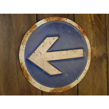 Turn Left embossed sign vintage style metal sign notice