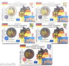 MONETE DI COLORE Germania 2015 Dt.Einheit ADFGJ Premium Coincard Schede-moneta