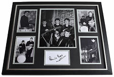 Pete Best SIGNED Framed Photo Autograph Huge display Beatles Music AFTAL & COA