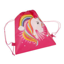 1PCS unicorn drawstring bags back bags cartoon theme Unicorn Drawstring Bag UPY