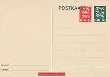 Estonia 1929,POSTAL STATIONARY,5 senti green und 5 senti red,MNH