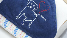 Crown Crafts Applique Baby Hooded Towels  2 Pack -  Puppy Love -  Ivory