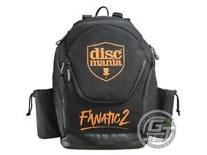 DiscMania FANATIC 2 Backpack Disc Golf Bag - BLACK / ORANGE