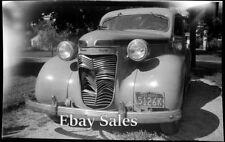 # T3 v Vintage Amateur Big Negative To Make Photo From- Front of Old Car