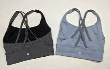 Lot of two Lululemon Energy Bra 2 Strappy Criss Cross No Pads Long Line