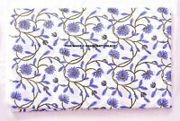 Indian Cotton Fabric Dressmaking Craft Sewing 44 Inch Block Printed By 2.5 Yard