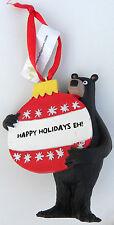 Disney parks christmas ornament epcot canada black holiday EH bear WDW world