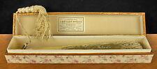 Eventail circa 1900 avec sa boite d'origine L Meilhan Bordes à Bordeaux Fan 风扇