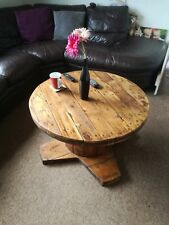 Reclaimed cable reel table