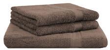 Betz lot de 3 serviettes:1 serviettes à sauna XXL 2 de toilette, marron noisette